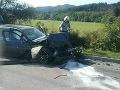 PRÁVE TERAZ Vážna nehoda v Rajeckých Tepliciach: FOTO Päť zranených! Zasahujú aj leteckí záchranári