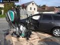 Taxikár nedal prednosť policajtovi na motorke: FOTO Nešťastie má vážne následky