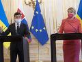 FOTO Volodymyr Zelenskyj na návšteve Slovenska: Týmto pohostila Čaputová prezidenta Ukrajiny