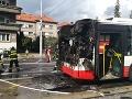 Hrôzostrašné FOTO z Banskej Bystrice: Požiar autobusu MHD, príčina je neznáma