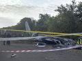 Miesto nehody ukrajinského vojenského