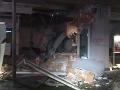 FOTO Nočná explózia v Košiciach: Výbuch zničil pobočku banky, zlodeji odišli naprázdno