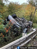 FOTO Nehoda pri Strečne: Kamionistovi namerali takmer dve promile alkoholu