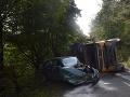 Dopravná nehoda kamióna a