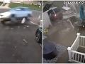 VIDEO hrôzostrašnej havárie: Auto ženy s troma deťmi po šmyku vletelo do domu, mrazivé slová majiteľky