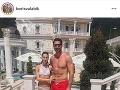Boris Valábik a jeho manželka Lucia