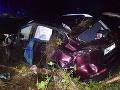 FOTO 16-ročné opité dievča si sadlo za volant: Dve promile, zničené auto a poškodené koľajnice