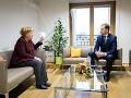 Premiér Matovič sa stretol s kancelárkou Merkelovou: Rokovali o rozpočte EÚ aj pandémii