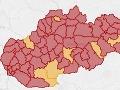KORONAVÍRUS Slovensko očervenelo: Zelený už nie je ani jeden región, červených je 72