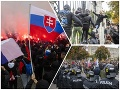 Boj pred Úradom vlády: VIDEO Polícia zasiahla voči protestujúcim ultras, vodné delo a slzný plyn!