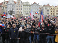 Demonštranti sa zhromaždili v Prahe na protest proti reštriktívnym opatreniam