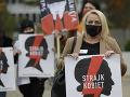 Poliaci celoštátnym štrajkom protestujú proti sprísneniu zákona o interrupciách
