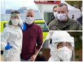 KORONAVÍRUS Počas víkendu makali aj politici: SaSka ako poľná klinika, FOTO Krajniak v uniforme