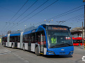 FOTO Unikát v Bratislave, dopravný podnik testuje jeden z najdlhších trolejbusov na svete