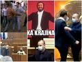 FOTO Ďalší konflikt, ktorý vyvolal vlnu vtipov: Slováci sa tento týždeň zabávali na strkanici v parlamente