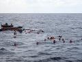 Nešťastná cesta migrantov do Európy: Pri líbyjskom pobreží zahynulo ďalších 20 utečencov