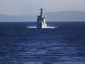 Nemecká fregata zastavila v Stredozemnom mori podozrivú tureckú loď