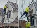 Najhorší deň v práci na VIDEU: Rozzúreného stavbára nedokázali zastaviť ani kolegovia