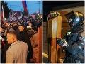 Matovič mal pred domom stovky protestujúcich ľudí: FOTO Kotlebovci a rakva pri bráne!