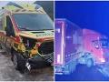 Nešťastná noc pri Kremnici: FOTO Skrížený kamión aj desivá zrážka sanitky