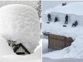 Snehové šialenstvo v Alpách: FOTO bielej nádielky vás šokuje! Veď v tomto by sa stratil aj obor