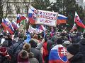 Protivládny protest pred Prezidentským
