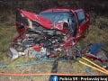 FOTO Tragická dopravná nehoda neďaleko Humenného: Jeden človek zomrel