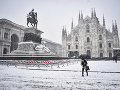 Sever Talianska zasiahli búrky: Miláno je zasnežené, doprava na viacerých miestach kolabuje