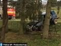 Prvá tragédia na cestách v novom roku: FOTO Vodič vpálil do stromu, náraz neprežil