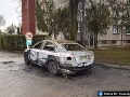 Po výbuchu auta v Zlatých Klasoch vodič unikol: Utrpel však popáleniny na 68 percentách tela