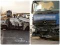 Rodinná tragédia v Maďarsku! FOTO Z auta sa stalo ohnivé väzenie, svedkovia hororu boli bezmocní