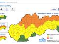 Slovenský hydrometeorologický ústav (SHMÚ) vydal výstrahy prvého aj druhého stupňa