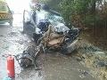 FOTO Hrozivá nehoda pri Žiari nad Hronom: Auto napálilo do stromu, sedeli v ňom aj tri deti