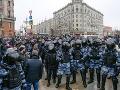 Demonštrácie za prepustenie Navaľného v Rusku neutíchajú: Polícia zadržala už vyše 1600 ľudí