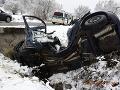 FOTO Vážna dopravná nehoda: Vodič bol v ťažkom stave prevezený do nemocnice