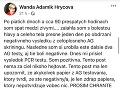 Najnovšie Wanda Hrycová prezradila, že až štvrtý - PCR test - odhalil, že je pozitívna na COVID-19.