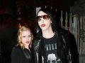 Evan Rachel Wood a Marilyn Manson v čase, keď tvorili pár.