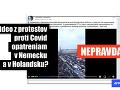 Internetom sa šíril ďalší HOAX: Video z protestu pochádza z Petrohradu, nie z Holandska či Nemecka