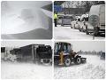 Slovensko v zajatí snehu! VIDEO Najhoršia situácia je na východe: Vodiči bojujú s kalamitou