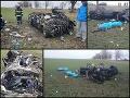 Tragická nehoda pri Nových Zámkoch: FOTO Traja mŕtvi! Auto bolo úplne zdemolované