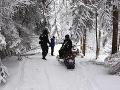 FOTO Policajti zadržali Poliakov na snežných skútroch: Premávali sa po chránenej oblasti