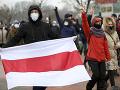 Odporcovia režimu v Bielorusku slávili Deň hrdinov zmien: Minister zahraničia nešetril kritikou