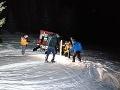 FOTO Túra sa mu mohla stať osudnou: Uviaznutého muža zachraňovali horskí záchranári