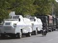 FOTO Mjanmarská polícia zasiahla