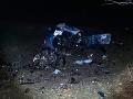 FOTO Tragédia pri Snine: Pri nehode zomrel 19-ročný mladík, z auta zostali len trosky