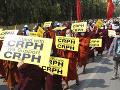 Protesty v Mjanmarsku pokračujú: Demonštranti blokovali cesty a ulice Rangúnu i iných miest