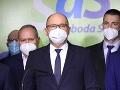 Tlačová konferencia predstaviteľov SaS
