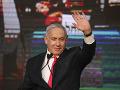 FOTO Netanjahu po zverejnení odhadov hovorí o obrovskom víťazstve pravice