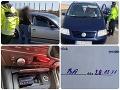 Šokujúce úlovky bratislavskej polície počas šibačky: FOTO Zabielitkovaný dátum testu aj rušička rýchlosti na D1