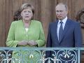 Angela Merkelová s Vladimirom Putinom